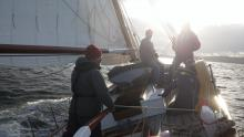 Sound of Sleat. Great boat, weather, location. I almost became a sailor.