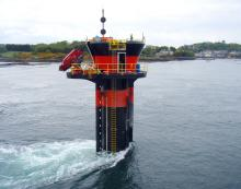 Four tidal turbines such as this at NI's Strangford Lough are proposed for Kyle Rhea