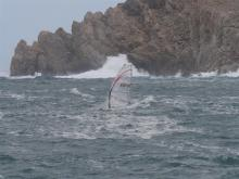 Rearward barrel position copes well with lumpy sea