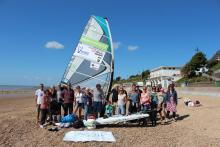 Windsurf round britain the start